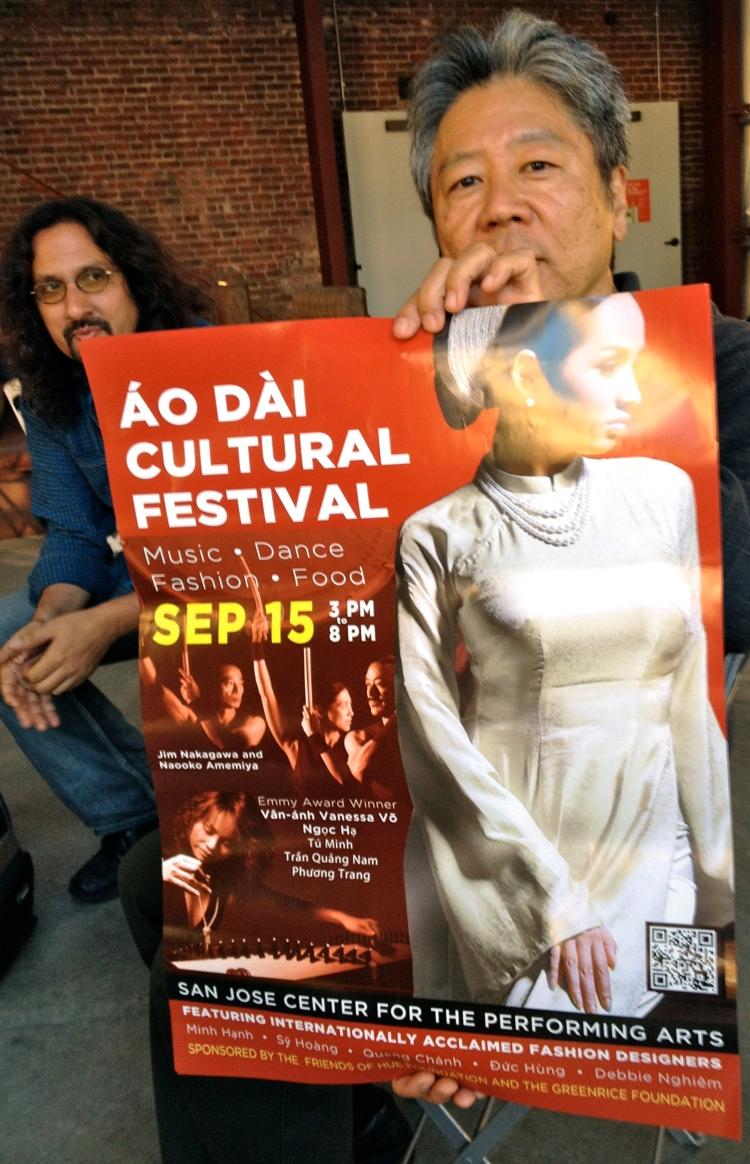 Steve Yamaguma promotes the Ao Dai Cultural Festival